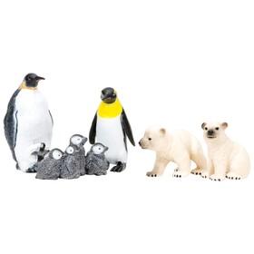 Набор фигурок: пингвины и белые медведи, 5 предметов