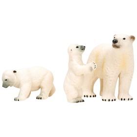 Набор фигурок: белая медведица и медвежата, 3 предмета