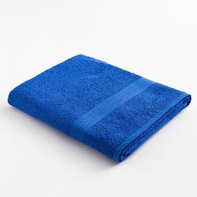 """Полотенце махровое """"ВЫГОДА"""" 70х130 см, цв. темно-синий  100% хлопок"""