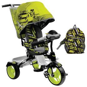 Велосипед трехколесный Nika ВД5М, колеса EVA 10'/8', цвет лимонный Ош