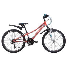 Велосипед 24' Novatrack Valiant, 2019, цвет коралловый, размер 10' Ош