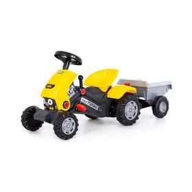 Педальная машина для детей «Turbo-2», с полуприцепом, цвет жёлтый Ош