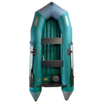 Лодка «Мурена 320МНДНД», транец+надувное дно, цвет серый/олива - Фото 1