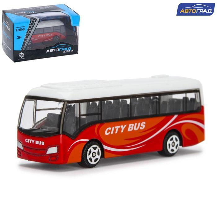 Автобус металлический «Междугородний», масштаб 1:64, цвет красный