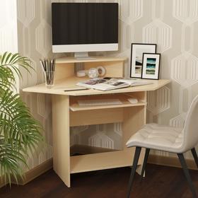 Стол компьютерный «СК 4», 1221 × 871 × 902 мм, ЛДСП, цвет млечный дуб