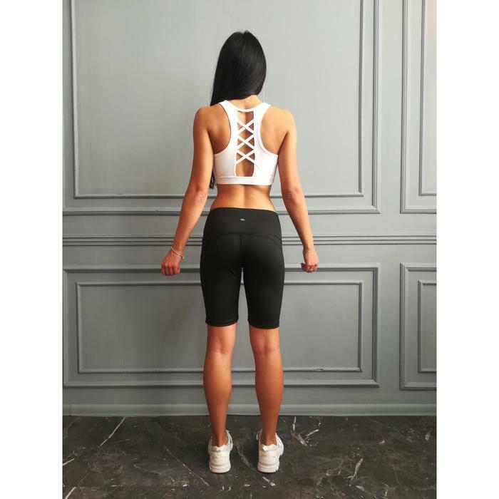 Шорты спортивные женские, цвет чёрный, размер 50 (XL)