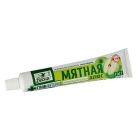 Зубная паста Весна Мятная, мята + яблоко, без футляра, 100 г