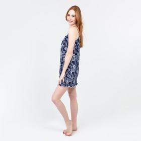 Ночная сорочка женская, цвет тёмно-синий, размер 48