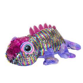 Мягкая игрушка «Хамелеон Глазастик», 27 см
