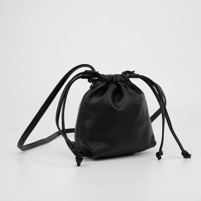 Кросс-боди, отдел на шнурке, цвет чёрный - Фото 1