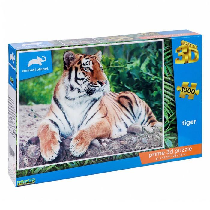 3D Пазл 1000 элементов Тигр 6+