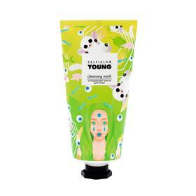 Очищающая  маска для лица SelfieLab YOUNG на основе голубой глины, 50г