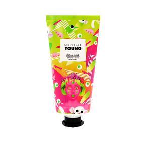 Детокс маска для лица SelfieLab YOUNG на основе розовой глины, с экстрактами винграда, 50г