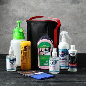 Подарочный набор для ухода и мойки авто Grand Caratt, в сумке, 8 предметов Ош