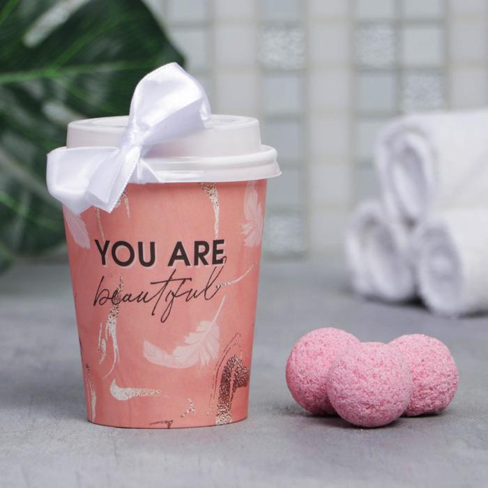 Бомбочка для ванн в картонном стакане You are beautifyl