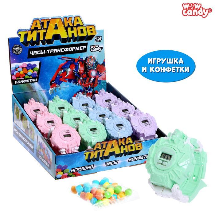 Игрушка с конфетками «Часы-трансформер: Атака титанов», МИКС