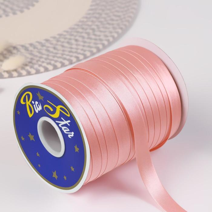 Косая бейка, 15 мм × 132 м, цвет розовый F151