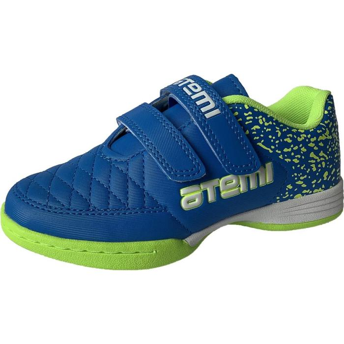 Бутсы футбольные Atemi SD150 INDOOR, цвет салатово-голубой, синтетическая кожа, размер 31