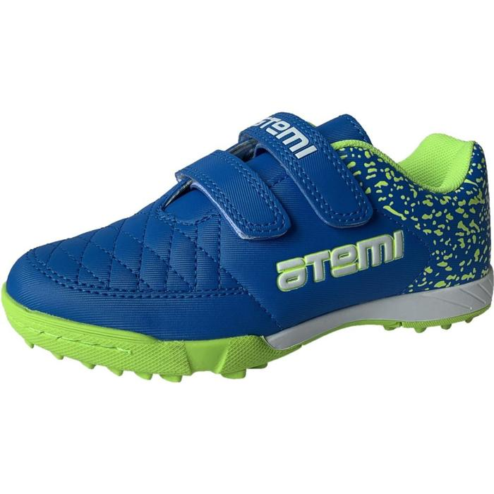 Бутсы футбольные Atemi SD150 TURF, цвет салатово-голубой, синтетическая кожа, размер 35