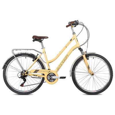 "Велосипед 26"" Stinger Victoria, цвет бежевый, размер 15"" - Фото 1"