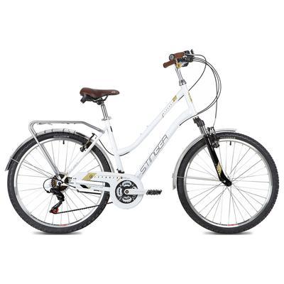 "Велосипед 26"" Stinger Victoria, цвет белый, размер 15"" - Фото 1"