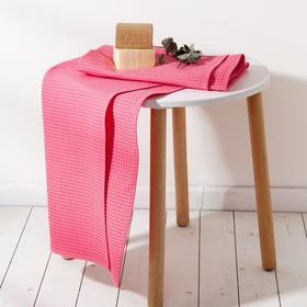 Полотенце вафельное Этель 70*140 см. цв.ягодный, 100% хл, пл 240 г/м2