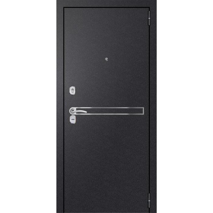 Входная дверь «Хит 9 Nova», 860 × 2100 мм, левая, цвет чёрный шёлк / сандал серый
