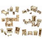 Большой набор кукольной мебели из дерева 6 в 1 - Фото 4