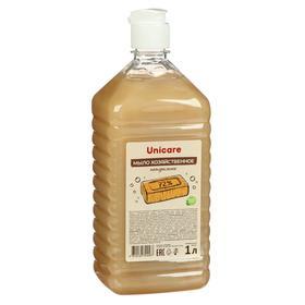 """Натуральное жидкое мыло """"Хозяйственное"""" UNICARE, ПЭТ, флип-топ, 1л"""