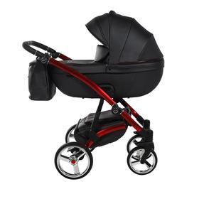 Коляска детская 2 в 1 TAKO LARET NEW PREMIUM GT TLPGT-01, цвет кожа черная, короб черный, рама красная