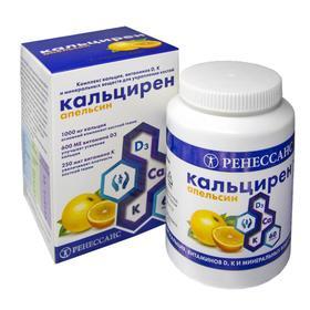 Витаминно-минеральный комплекс «Ренессанс Кальцирен» крепкие кости, со вкусом апельсина, 60 таблеток
