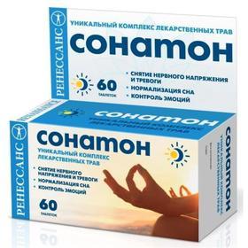 Комплекс лекарственных трав «Ренессанс Сонатон», нормализация сна, 60 таблеток