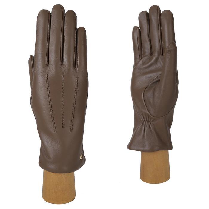 12.97-10 FABRETTI Перчатки жен. нат. кожа (Размер 7),темно-бежевый