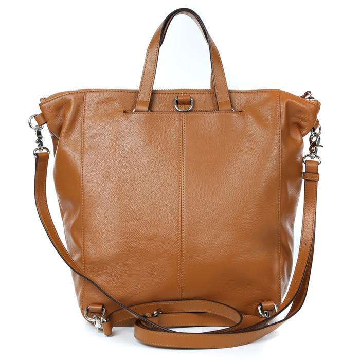 Сумка-рюкзак, отдел на молнии, наружный карман, цвет рыжий