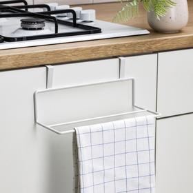 Держатель для полотенец на дверцу, 24,5×10×10 см, цвет белый Ош