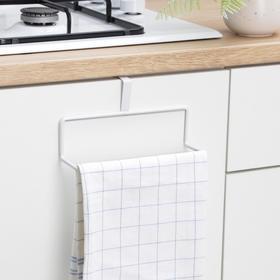 Держатель для полотенец на дверцу, 19×6×10,5 см, цвет белый Ош
