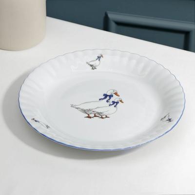 Тарелка мелкая «Гуси», d=24 см - Фото 1
