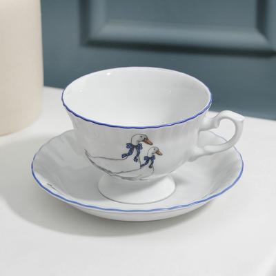 Чайная пара низкая «Гуси», 220 мл - Фото 1