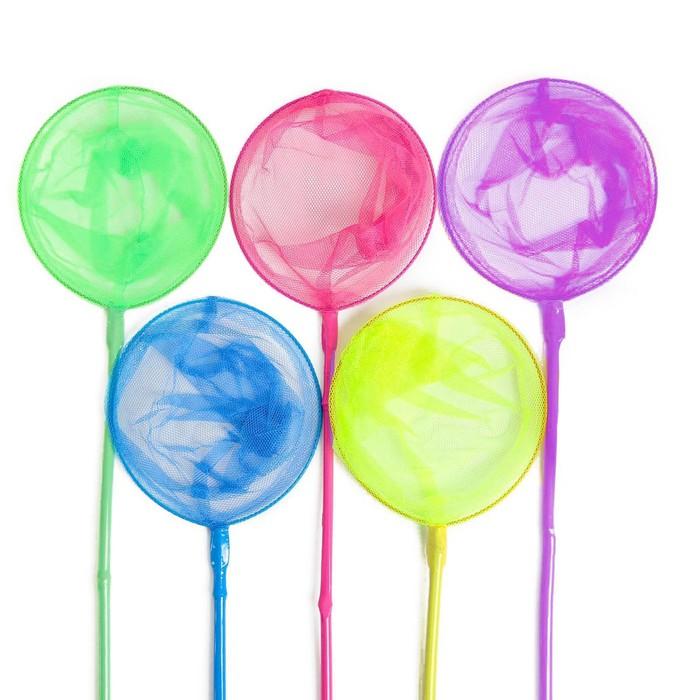 Сачок детский «Бабочка», диаметр 28 см, цвета МИКС