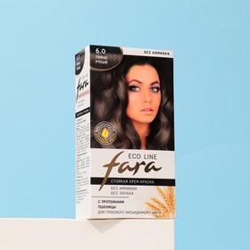 Краска для волос FARA Eco Line 6.0 тёмно-русый, 125 г