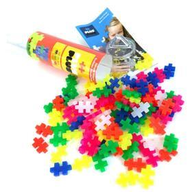 Разноцветный конструктор для создания 3D моделей Plus Plus, неон