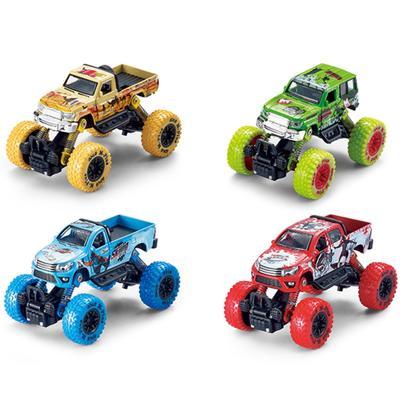 Модель машины «Джип с большими колёсами», инерционный металлический, 14 см, МИКС. - Фото 1