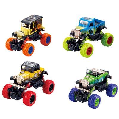 Модель машины «Ретромодель с большими колёсами», инерционная металлическая, 13 см, МИКС. - Фото 1