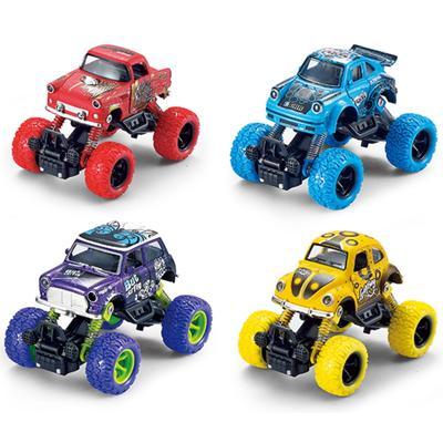 Модель машины «Машинка классическая с большими колёсами», инерционная металлическая, 13 см, МИКС. - Фото 1