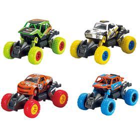 Модель машины «Машинка с большими колёсами», инерционная металлическая, 13 см, МИКС.