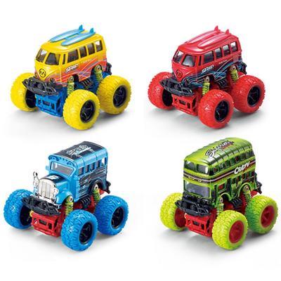 Модель машины «Автобус с большими колёсами», инерционный металлический, 10 см, МИКС. - Фото 1