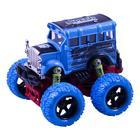 Модель машины «Автобус с большими колёсами», инерционный металлический, 10 см, МИКС. - Фото 2