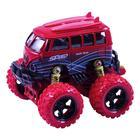 Модель машины «Автобус с большими колёсами», инерционный металлический, 10 см, МИКС. - Фото 4