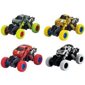 Модель машины «Машинка с большими колёсами», инерционная металлическая, 10 см, МИКС.