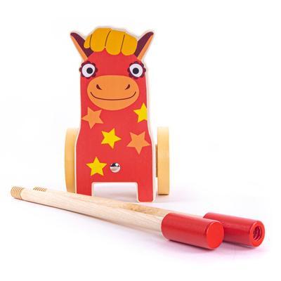 Каталка на палочке «Лошадка Иго-го» - Фото 1